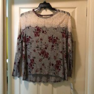 Lace accent top by Rewind Large